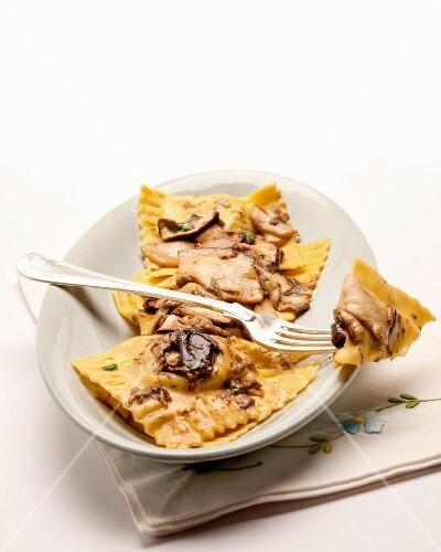Potato tortelli with mushrooms