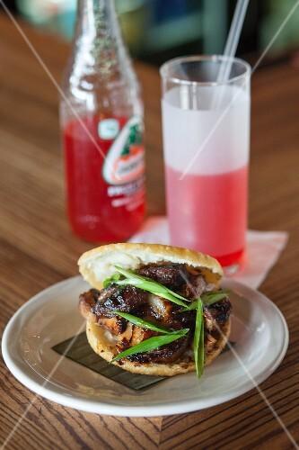 An Al Pastor sandwich made with pork (Mexico)