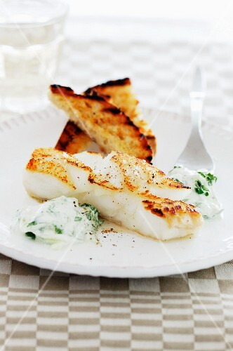 Cod fillet with herb quark