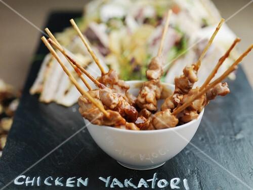 Chicken yakatori (chicken skewers, Japan)