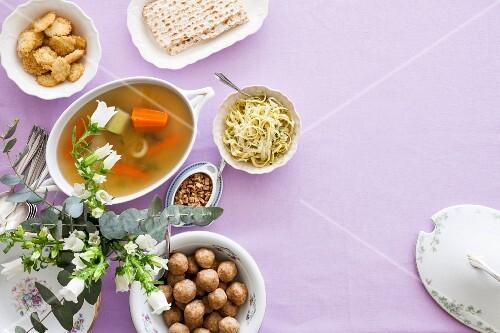 A Passover banquet
