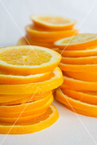 Stacks of orange slices