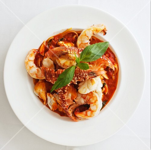 Seafood stew (seen from above)