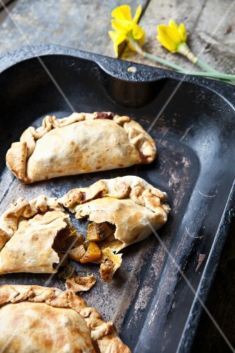 Curried butternut squash pasties
