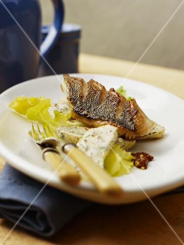 Zander with herb butter