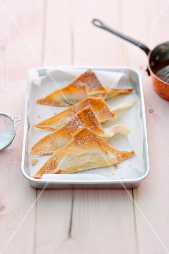 Bananas in puff pastry