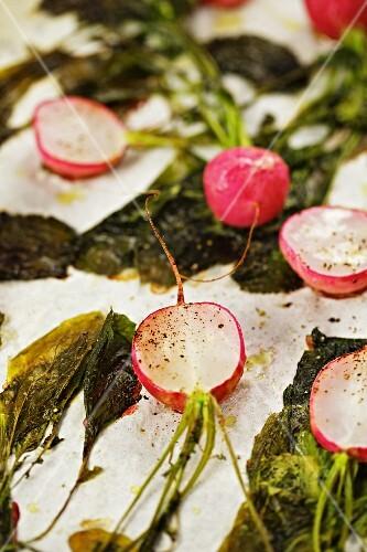 Oven-roasted radishes