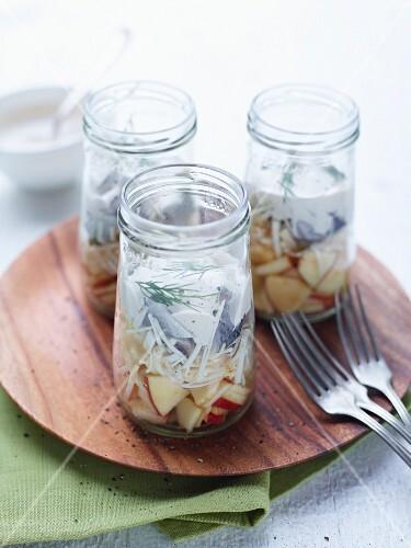 A jar of herring salad