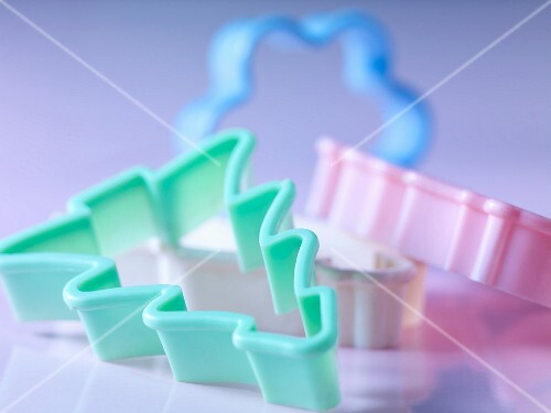 Pastel coloured cookie cutters