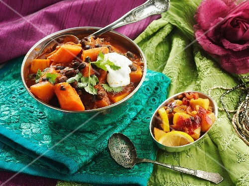 Carrots with black beans (India)