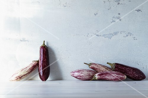 Stripped aubergines