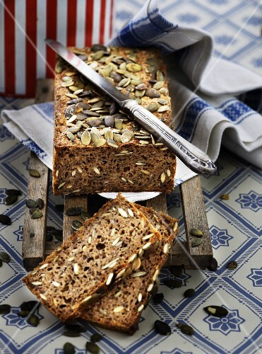 Wholemeal bread with pumpkin seeds
