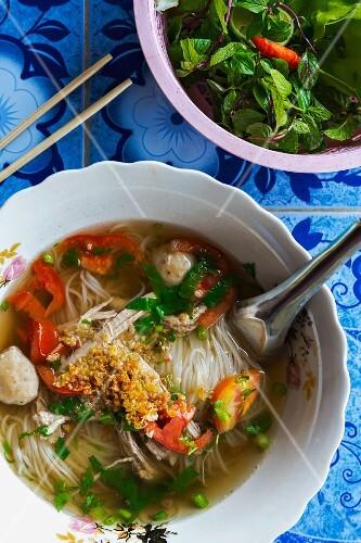 Rice noodle soup, Asia