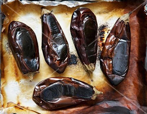 Slightly burnt aubergines