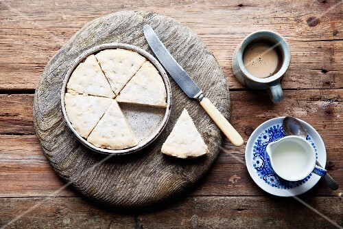 Shortbread and coffee