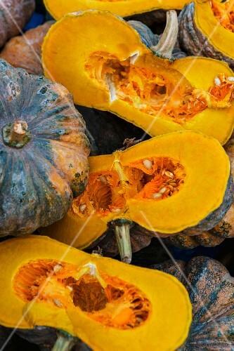 Halved pumpkins (Vientiane, Laos)