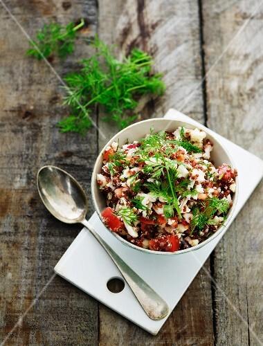 Quinoa salad with dill