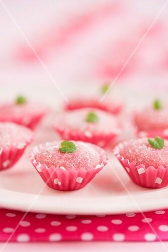 Bicho-de-pé (Brazilian strawberry sweets made with condensed milk)