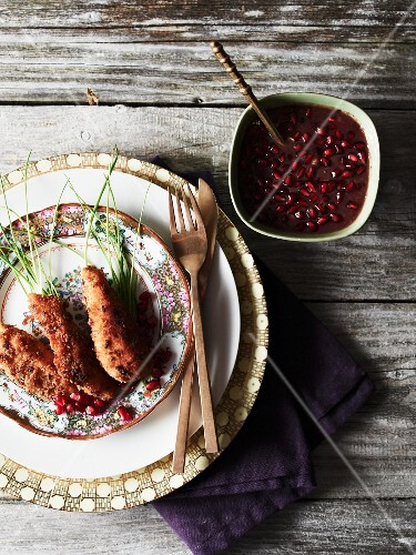 Chicken with pomegranate sauce