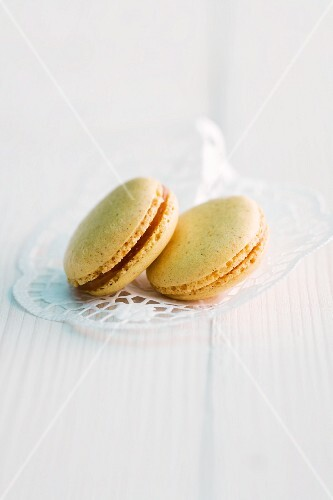 Two curry macaroons