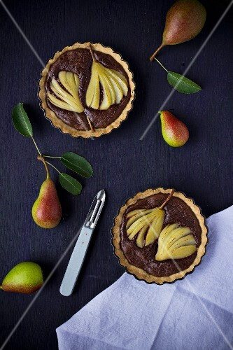 Two pear tartlets