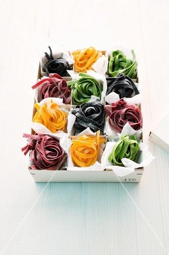 Colourful tagliatelle