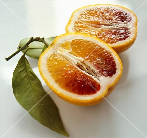 Blood orange, halved