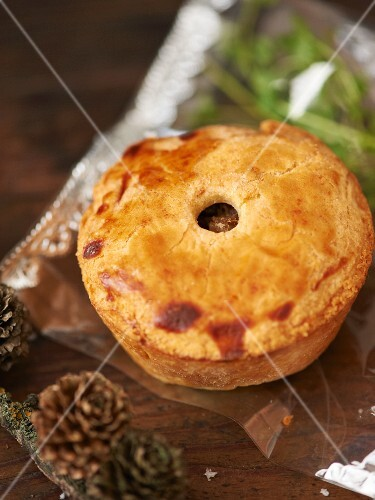 A mini meat pie as a Christmas present