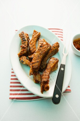 Spare ribs arrabiata with ketchup