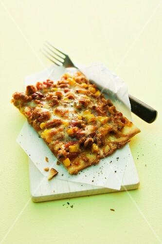 Chilli con carne pizza