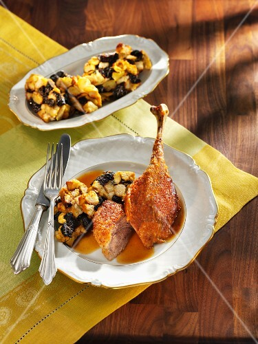 Classic Christmas goose with stuffing