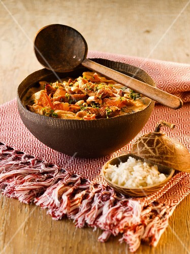 Peanut stew with rice (Africa)
