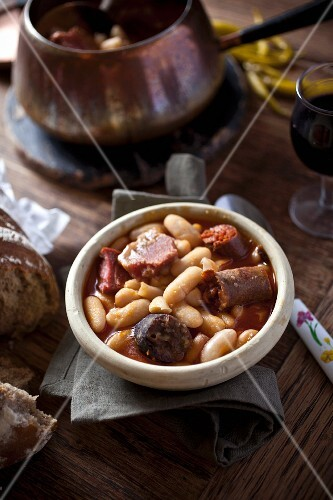 Fabada Asturiana (bean soup, Asturias, Spain)