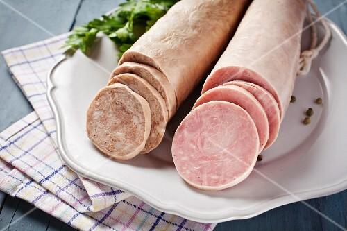 Butifarra (pork sausage, Catalonia, Spain)