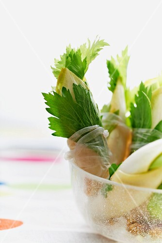 Chicory and celery rolls