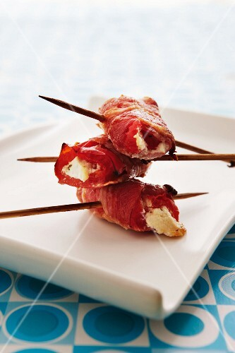 Goat's cheese wrapped in bacon