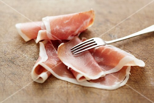 Slices of air-dried ham