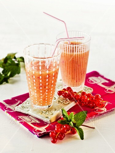 Two redcurrant smoothies