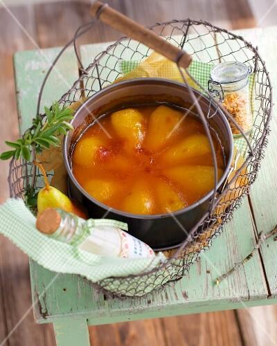 Pear and maracuja cake