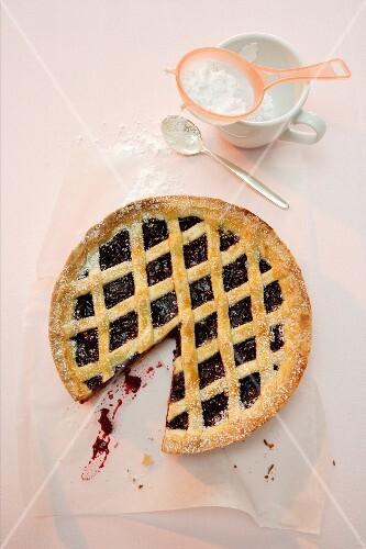 Crostata di visciole (Italian cherry cake)