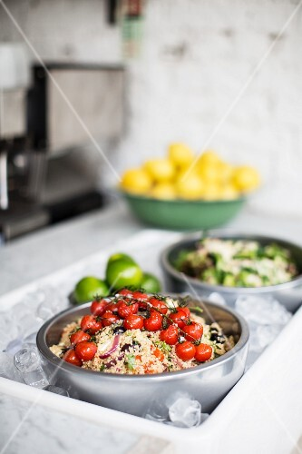 Couscous salad with roasted vine tomatoes