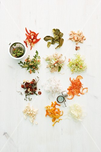 Dried herbs and spices for soups