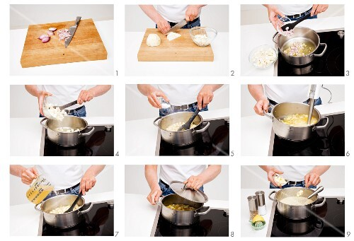 Step-by.step for puréed vegetable soup