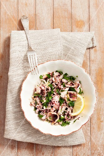 Marinated octopus with garlic and parsley (Greece)