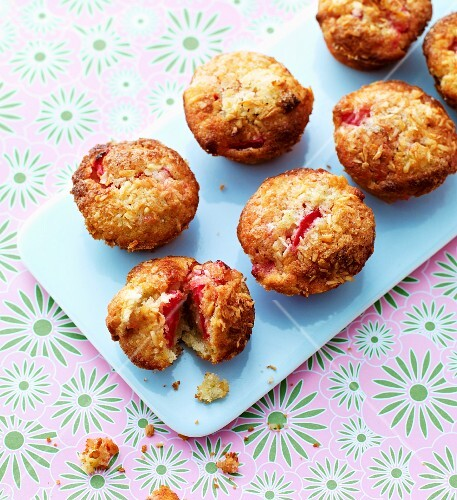 Strawberry and coconut muffins