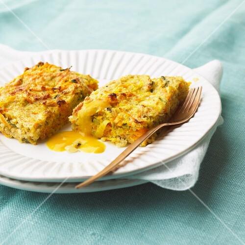 Quinoa-amaranth bake