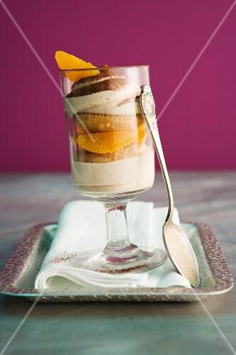 Orange tiramisu