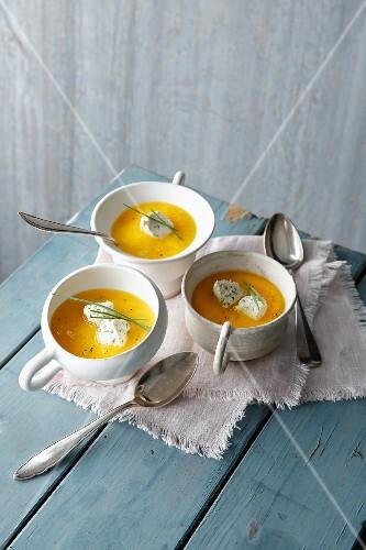 Yellow pepper soup