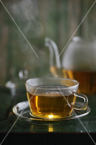 A steaming cup of tea