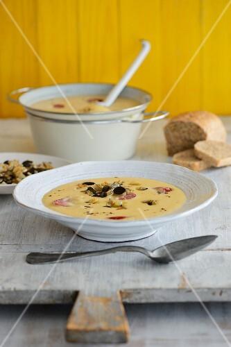 Velvety turnip soup